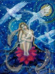 Träume, Frau im All